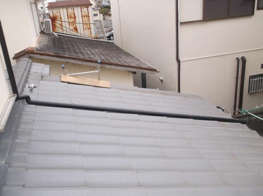 岸和田市の雨樋の交換