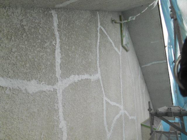 岸和田市岡山町の外壁ヘアークラック補修完了