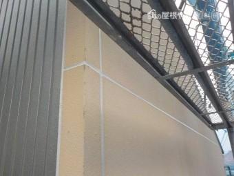 岸和田市の外壁のシーリング打ち替え完了状況