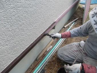岸和田市天神山町の水切り塗装