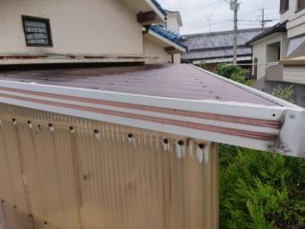 岸和田市のテラスの波板張替え完了