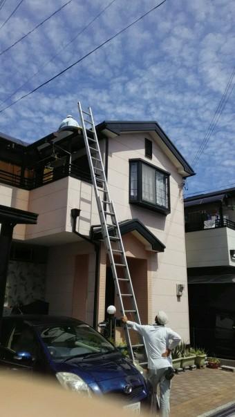 貝塚市王子の屋根から現調