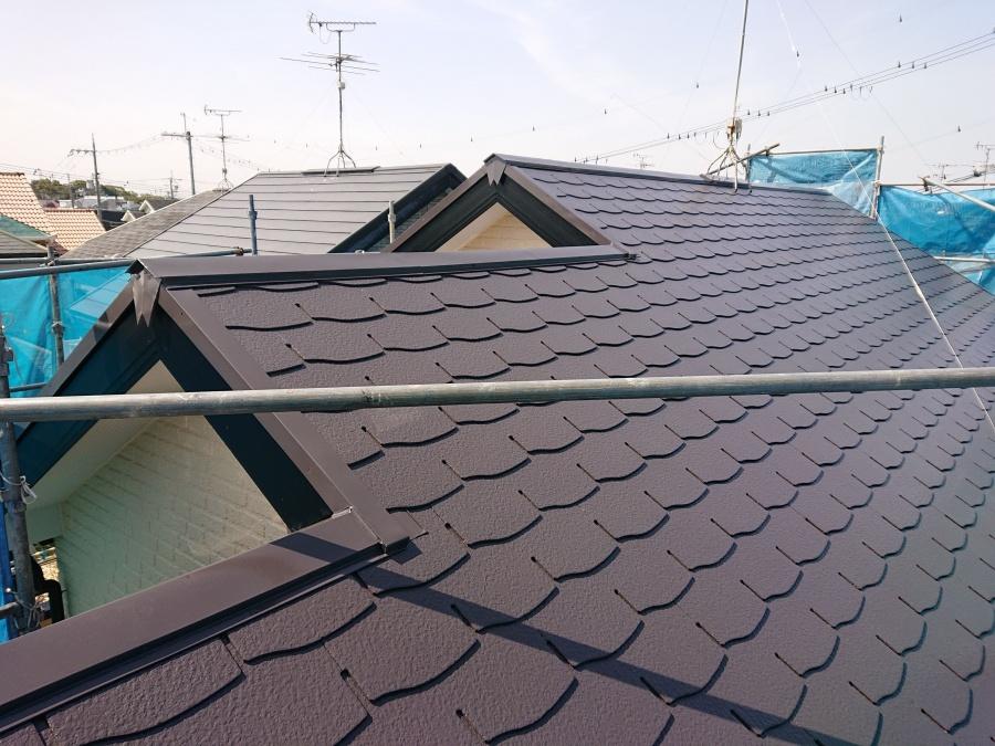 熊取町の塗装後の屋根