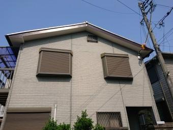 貝塚市の修理した軒天井と破風板