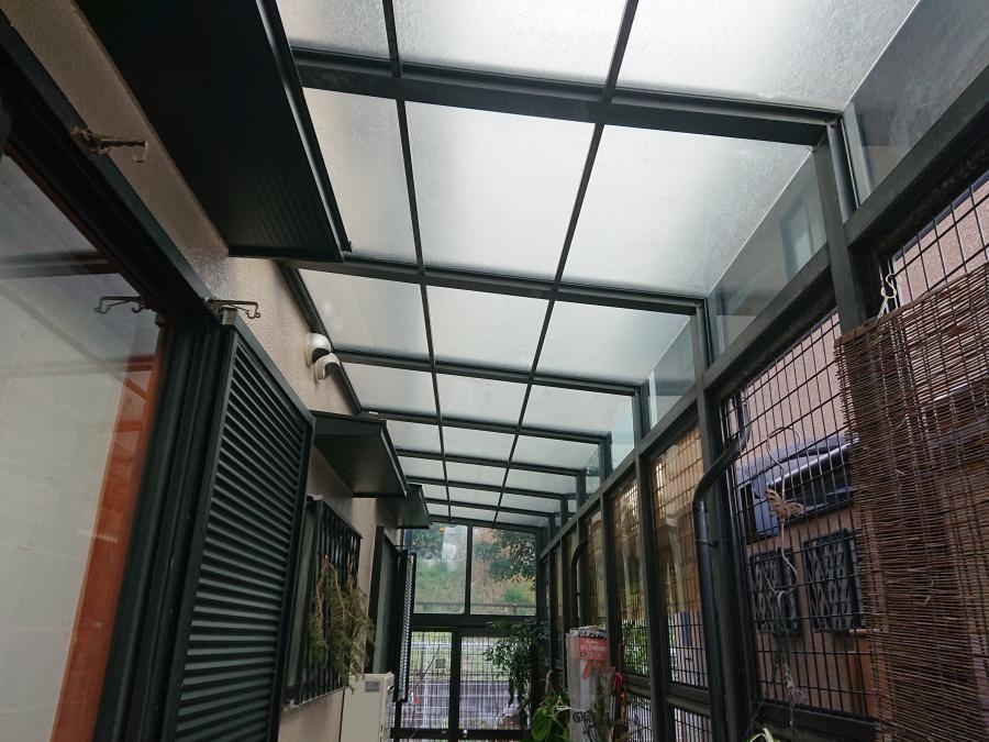 泉佐野市のテラス屋根復旧