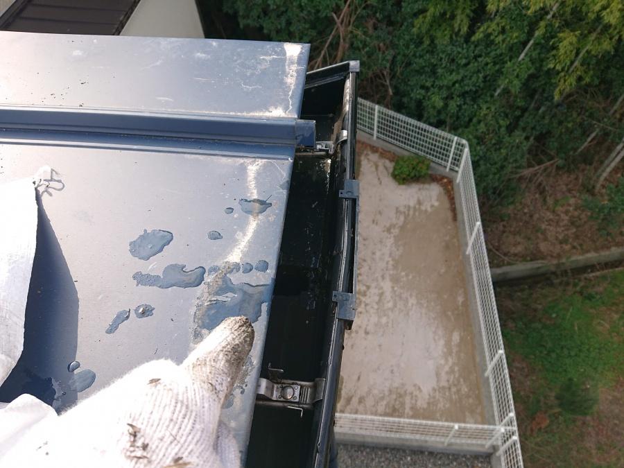 高石市の雨樋の詰まり解消