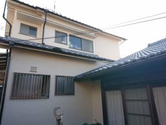 岸和田市の銅板屋根葺き替えと外壁塗装完了
