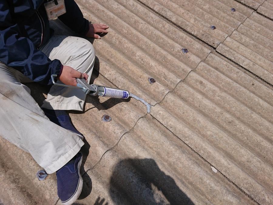 和泉市の倉庫の屋根の修理