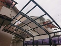 岸和田市のカーポートの平板が飛散