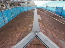 岸和田市の台風被害に遭った棟の修理完了