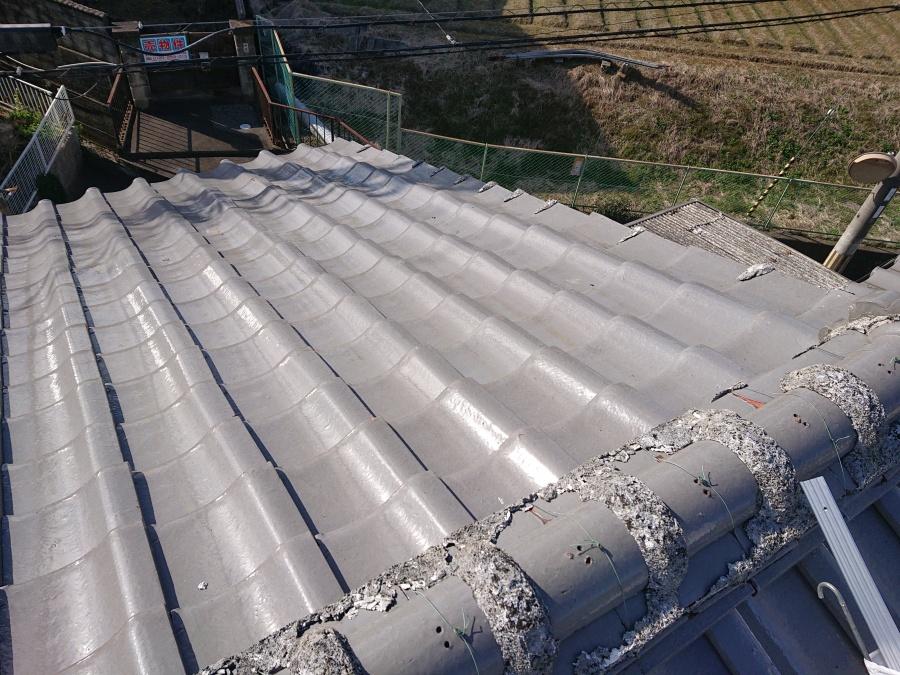 泉佐野市の掃除した屋根面