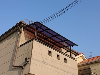 貝塚市のテラスの屋根貼り替え