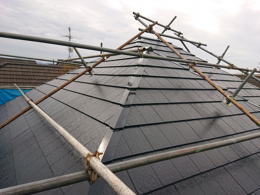 泉佐野市の屋根塗装完了