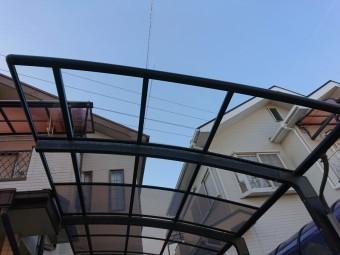 岸和田市のカーポートの平板張り替え