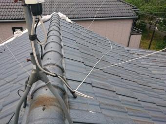 泉佐野市の修理前の屋根