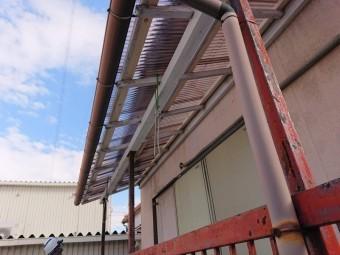 阪南市のテラスの波板張替え完了