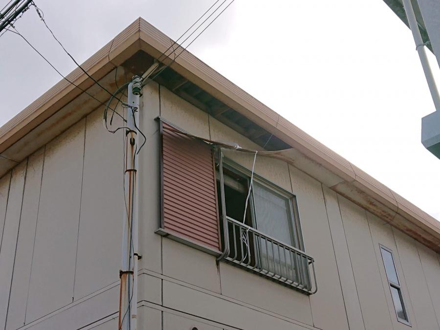岸和田市の落ちかかった軒天