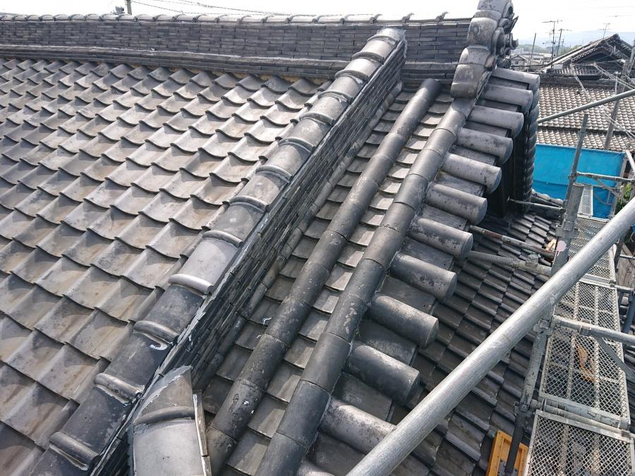 岸和田市の丸瓦修理完了