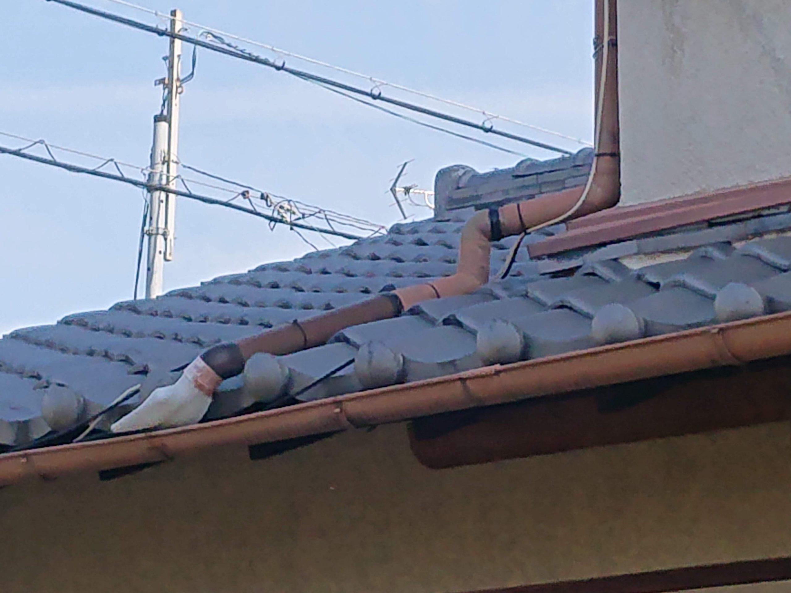 貝塚市の雨樋の不具合