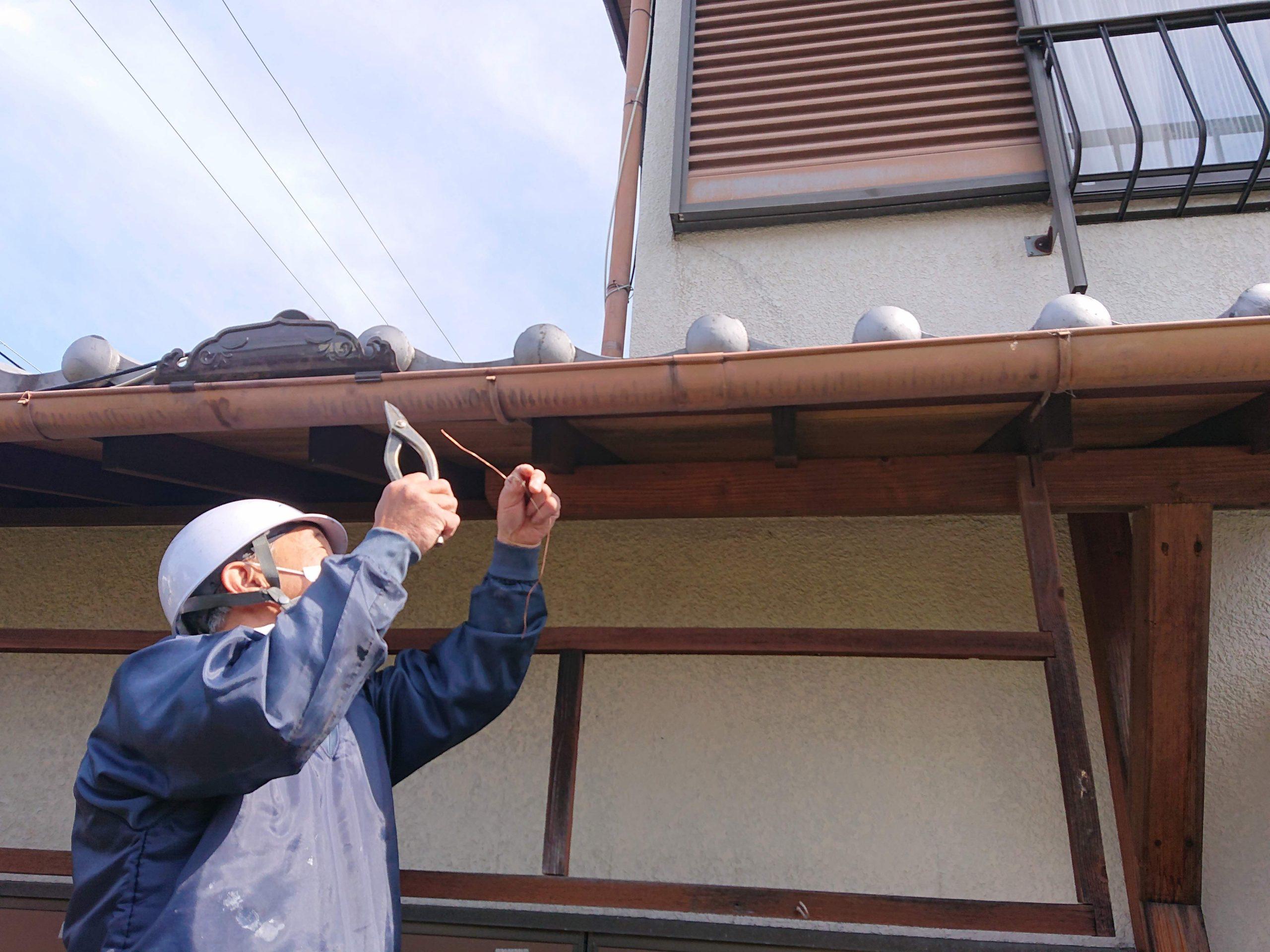 貝塚市K様の雨樋工事