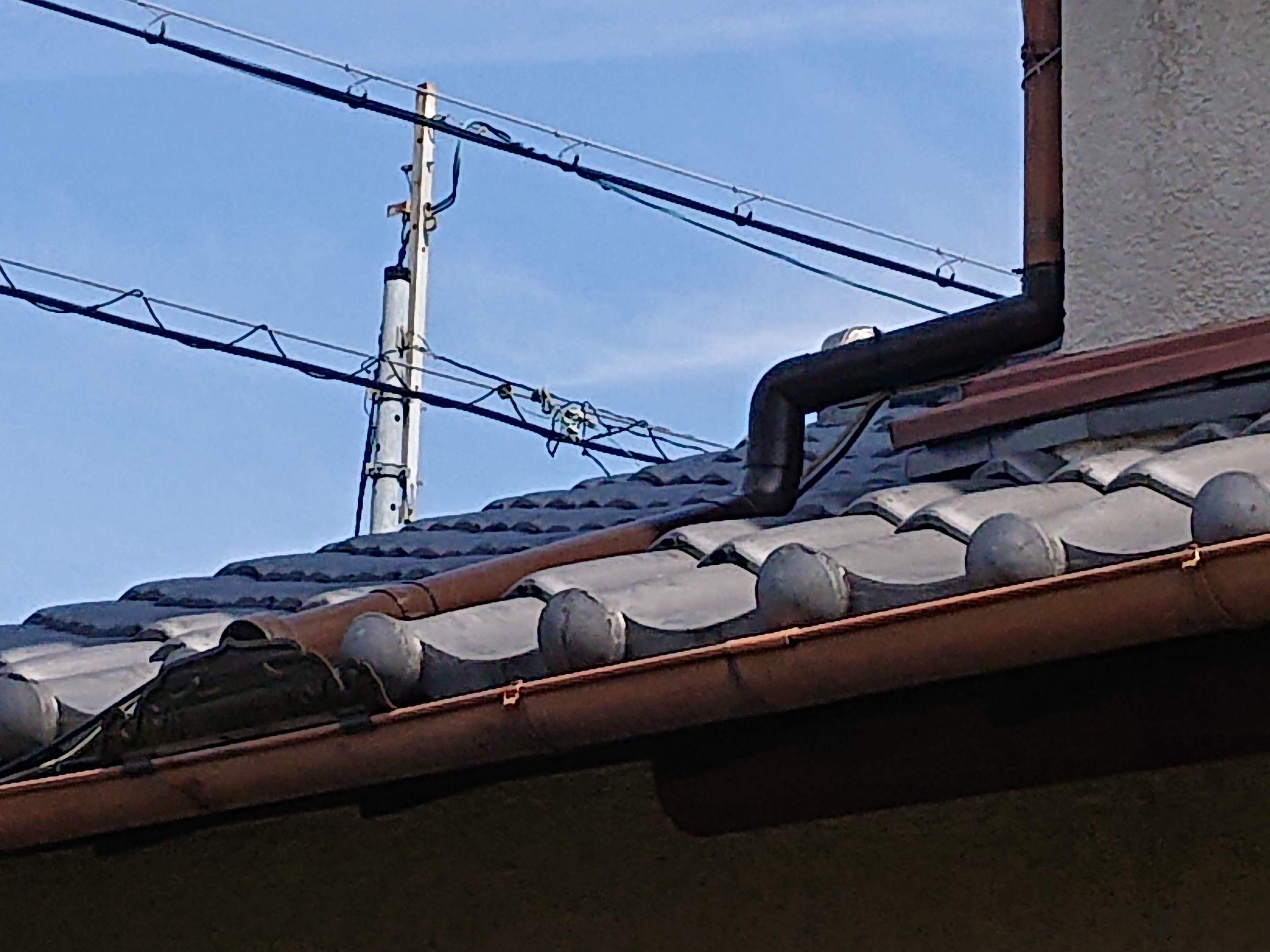 貝塚市の雨樋交換完了