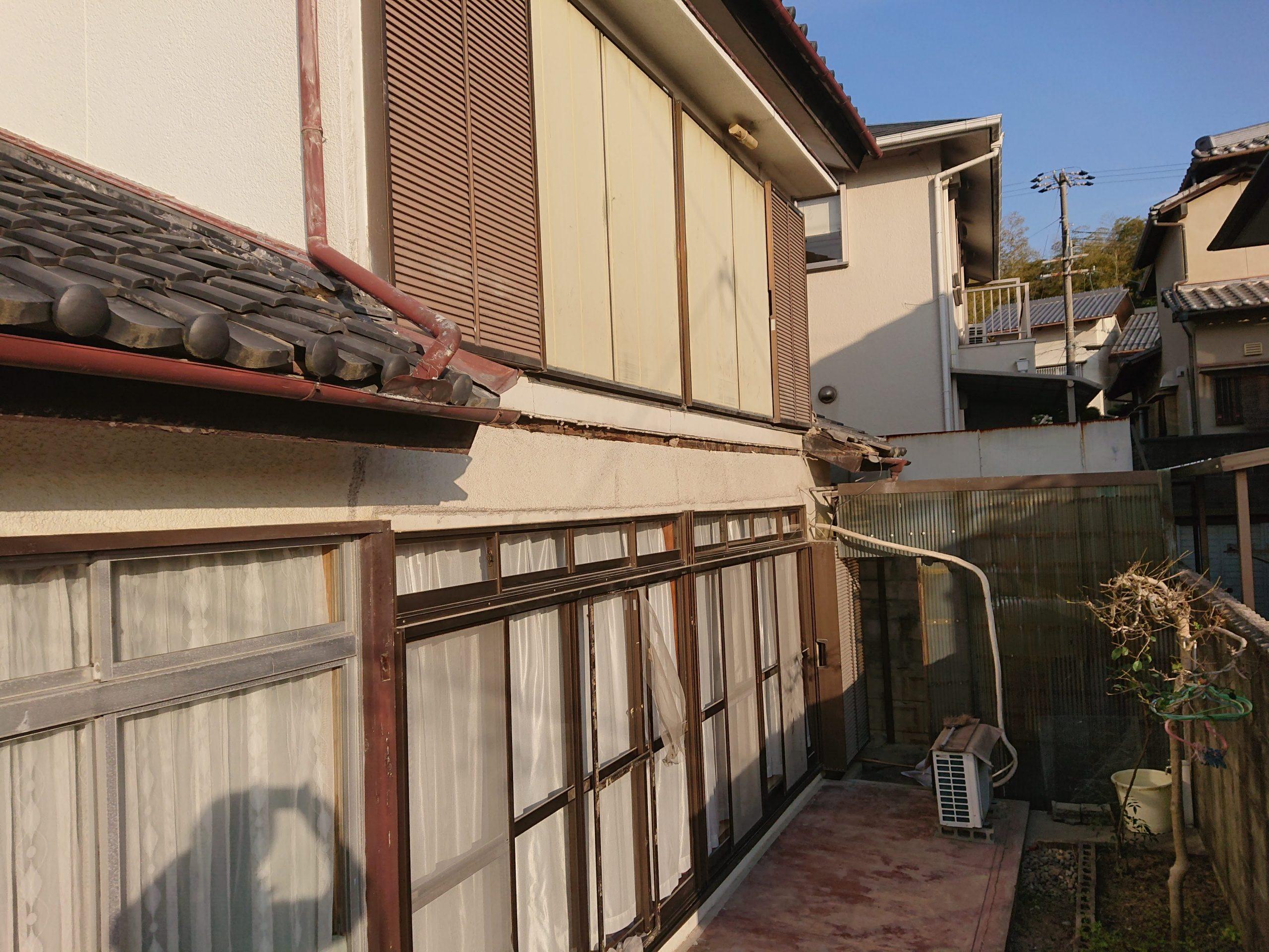 岸和田市のベランダ撤去完了