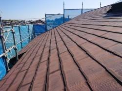 和泉市の塗装前の屋根