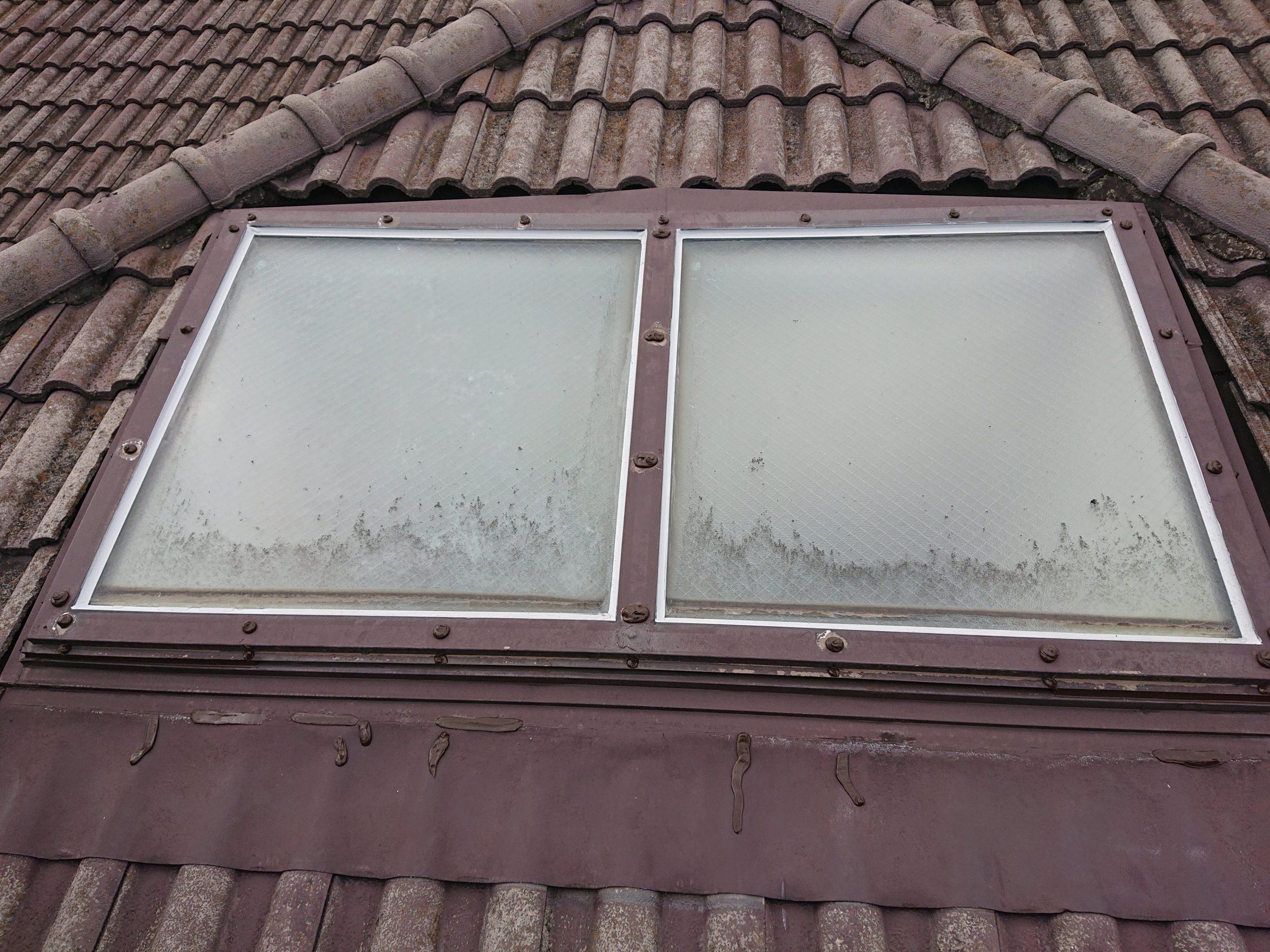 泉大津市の天窓の防水完了