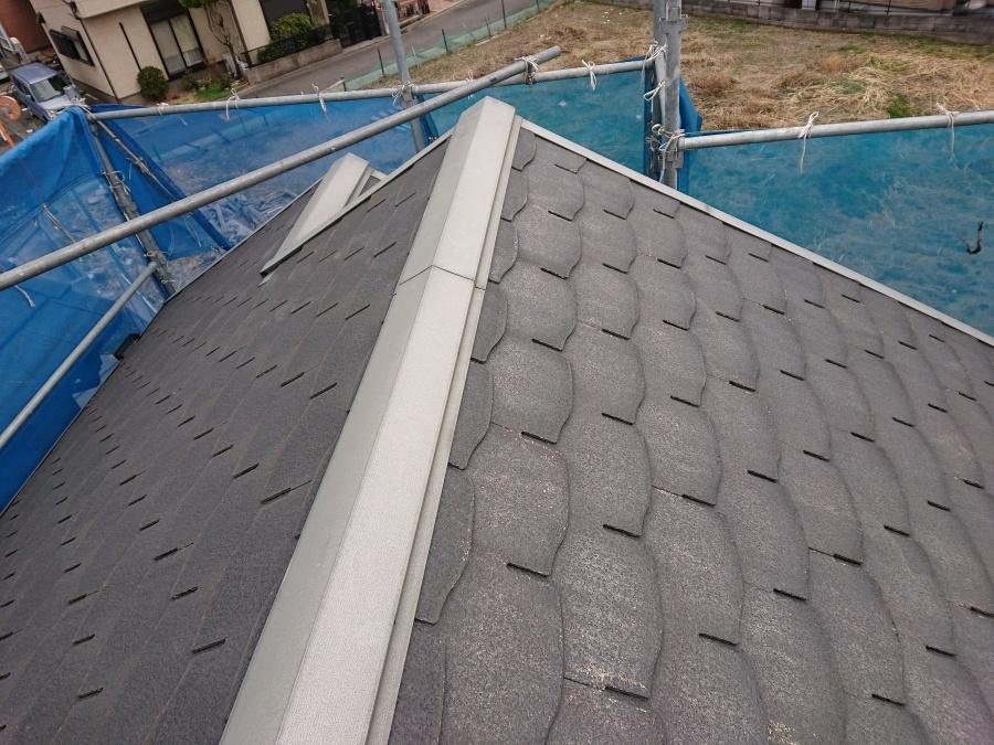 熊取町の塗装前の屋根