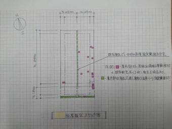 和泉市K様邸の屋根伏せ図