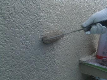 岸和田市吉井町の外壁上塗り