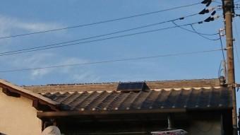 岸和田市の棟瓦積み直し完了