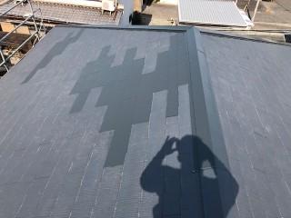 泉大津市のスレート屋根の修理完了