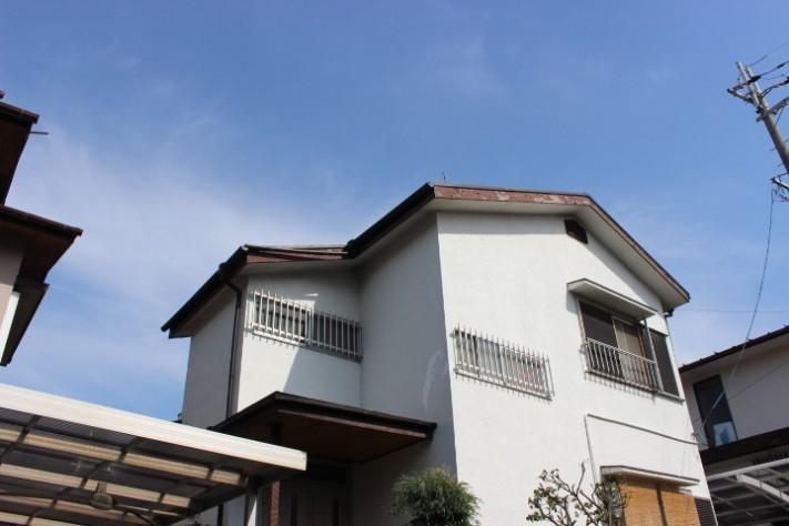 岸和田市摩湯町の屋根の破風板と鼻隠し現況