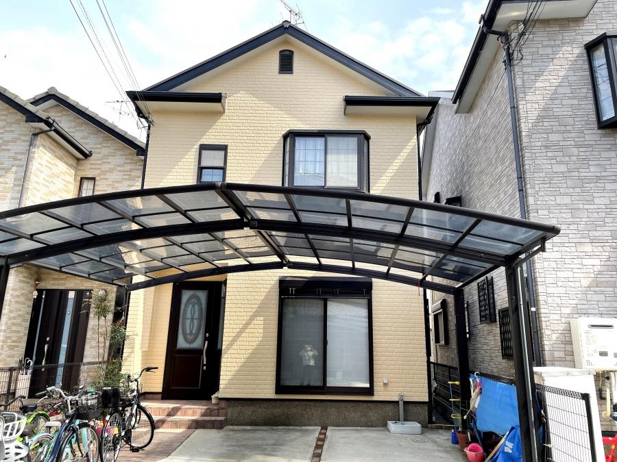 熊取町の外壁目地のシーリングを打ち替え雨漏り防止もした屋根・外壁塗装!