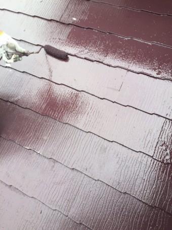岸和田市摩湯町の屋根上塗り
