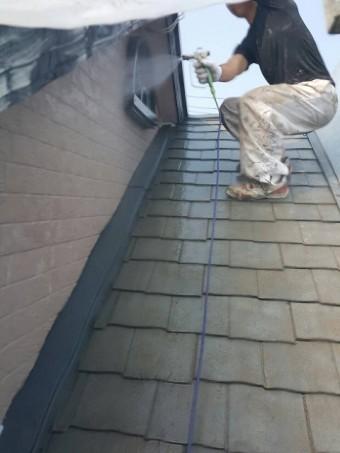 岸和田市八田町の外壁水洗い