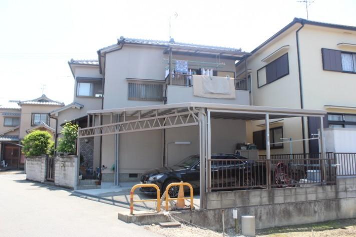 岸和田市神須屋町のビックカーポート設置完了!