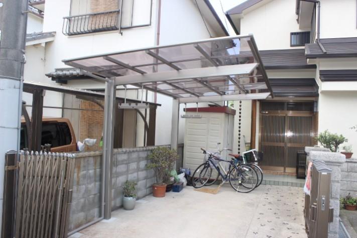 岸和田市土生町のテラス屋根設置完了