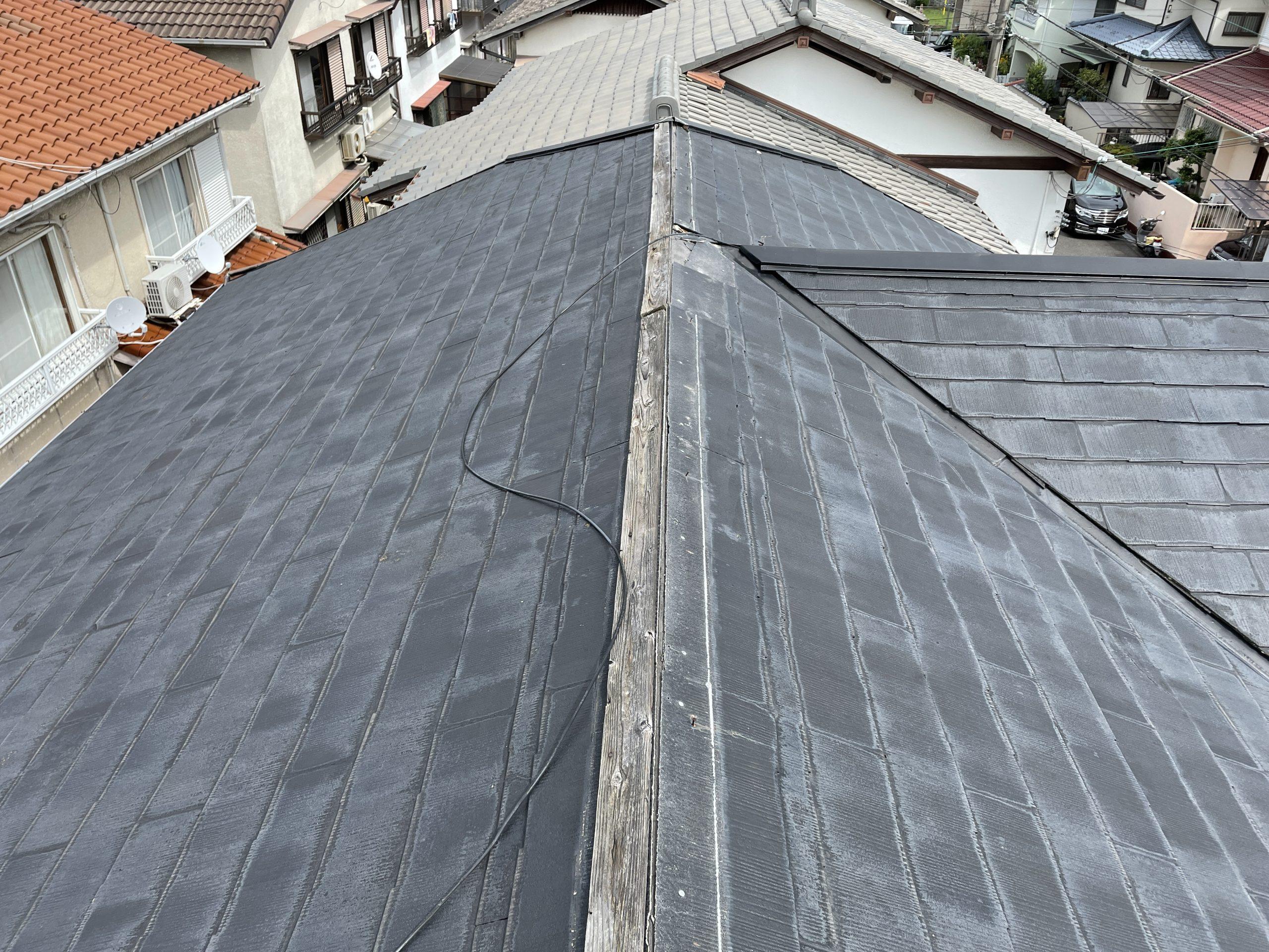 忠岡町の台風で飛散した棟板金