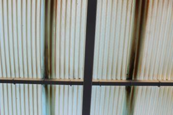 岸和田市尾生町の変色したカーポートの波板
