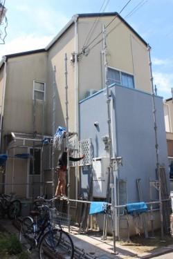 貝塚市半田の外壁塗装前の様子