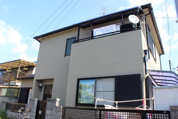 岸和田市西之内町の外壁塗装完了