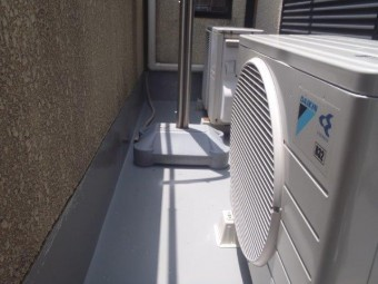 泉佐野市上瓦屋のバルコニーウレタン樹脂塗膜防水完了