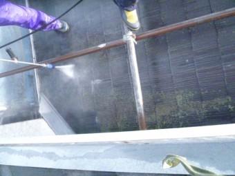 岸和田市下松町の苔も除去する高圧洗浄