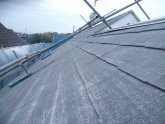 岸和田市下松町の高圧洗浄後の屋根