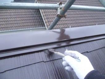 岸和田市下松町の棟板金塗装