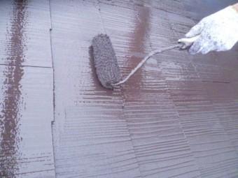 岸和田市下松町の屋根上塗り