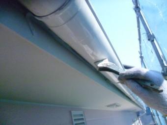 岸和田市下松町の雨樋塗装