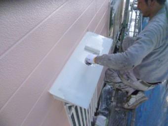 岸和田市下松町の庇塗装